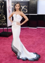 Zoe Saldana in Alexis Mabille Couture dress at the Oscars 2013