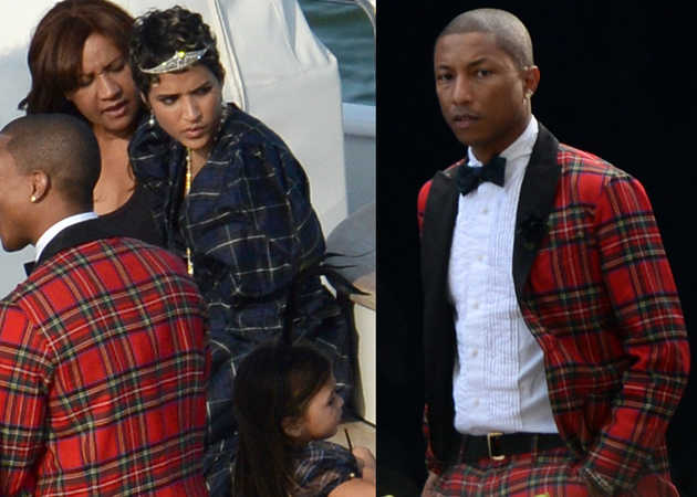 Pharrell Williams 2013 Wedding Tartan