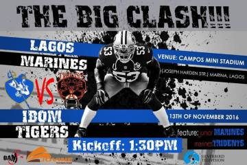 Lagos Marines vs Ibom Tigers American Football game
