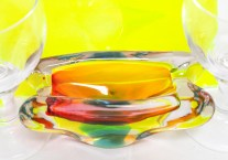 amorphous glass dish