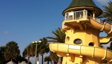 Disney's Vero Beach Resort water slide.