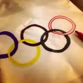 Making Olympic Flags.