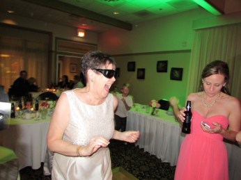 Patsy rocking Grandma's Glasses.