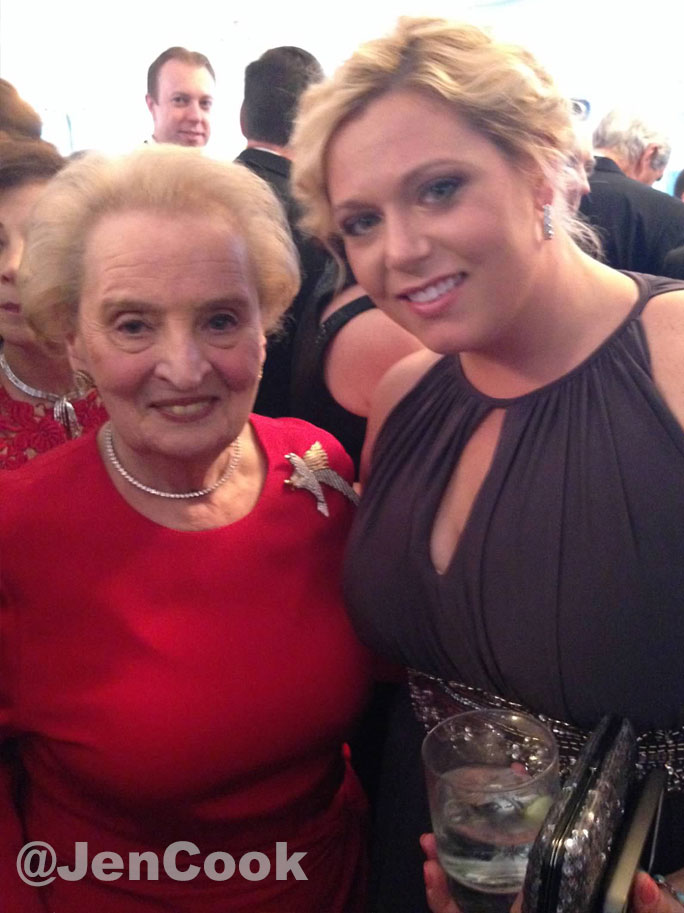 Madeline Albright and Jackie Fell at the White House Correspondents Dinner.