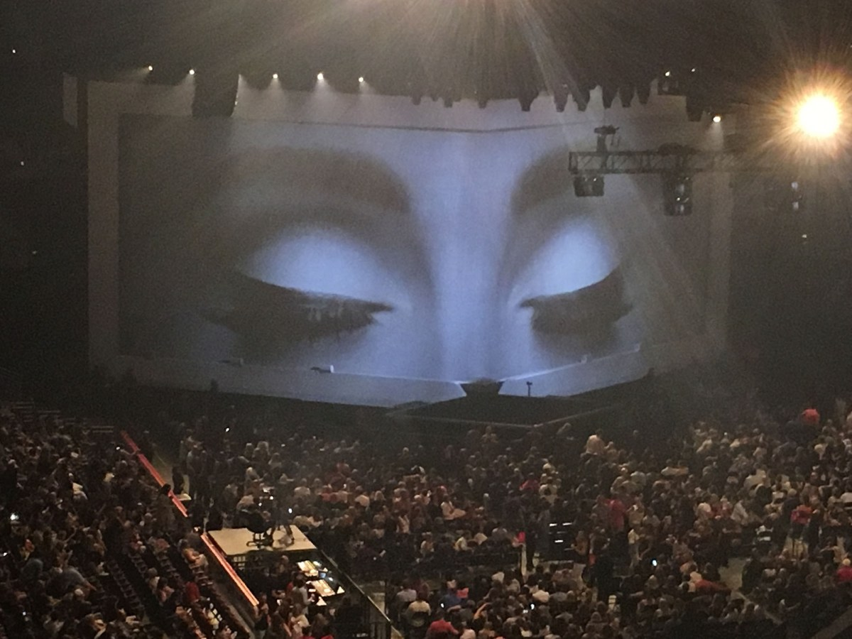 Pre-show stage for Adele in Chicago.