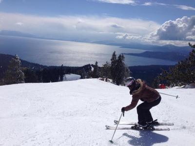 Skiing Diamond Peak in Lake Tahoe