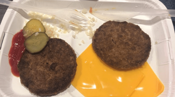 McDonald's Double Cheeseburger No Bun for Keto