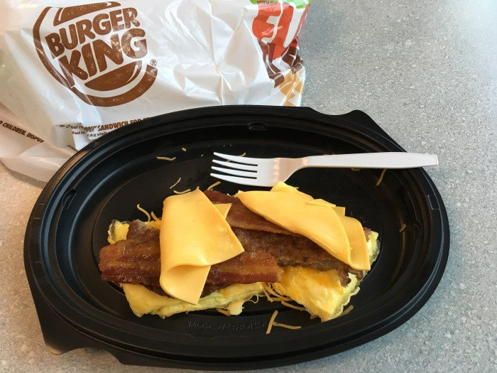 Low Carb Burger King Eggnormous Burrito