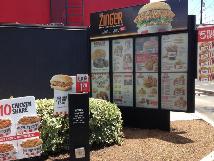 Low carb KFC menu does not exist.