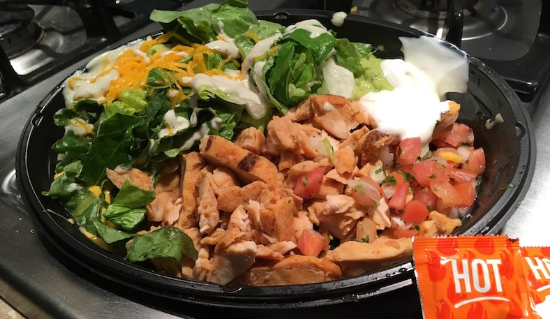 taco bell power bowl chicken