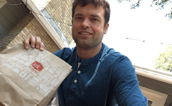Mr. SkinnyPants orders low carb at Jack In The Box.