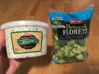Keto Broccoli and Spinach Dip Ingredients
