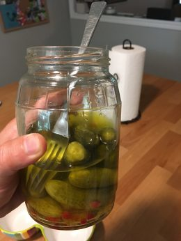 Keto Pickles with Fork