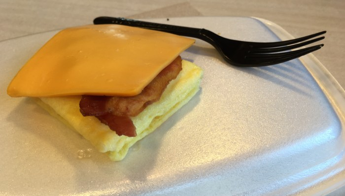 Low Carb McDonalds Bacon Egg and Cheese Biscuit