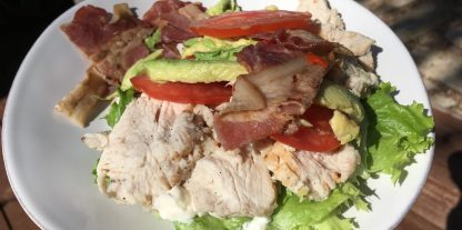 My Low Carb Panera Roasted Turkey and Avocado BLT Plated