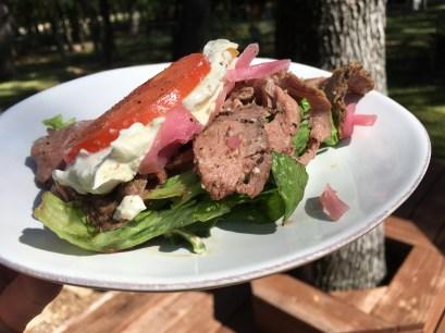 Low Carb Panera Steak and Arugula Sandwich Plated