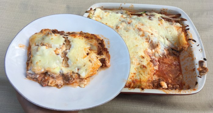 Low Carb Zucchini Lasagna - Served