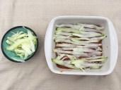 Low Carb Zucchini Lasagna - Zucchini Layer 1