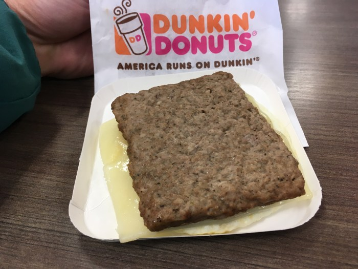 Low Carb Dunkin Donuts Turkey Sausage Flatbread