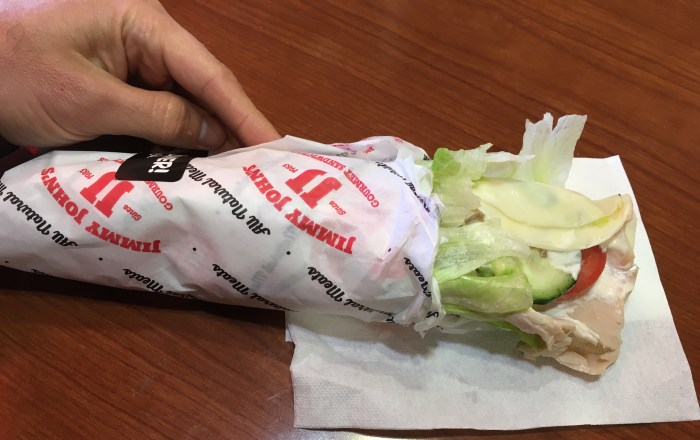 Low Carb Jimmy Johns Beach Club Unwich