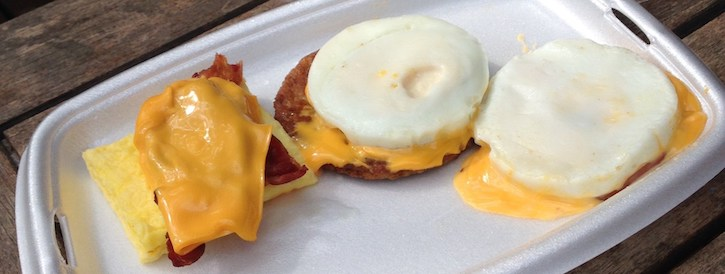low carb fast food breakfast