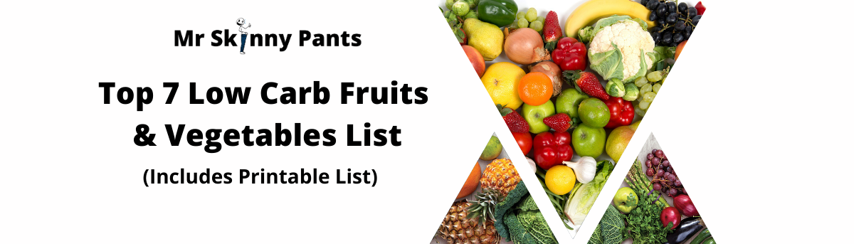 low carb fruits and vegetables printable list