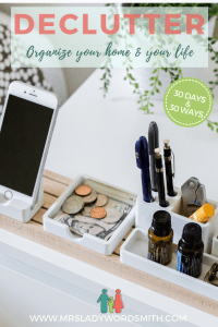 Is your life too cluttered with stuff? Most of us want to simplify. Here are 30 ways to do 1 day at a time as you dejunk your home and life. #goals #dejunk #declutter #clutter #organize #junk #newyear