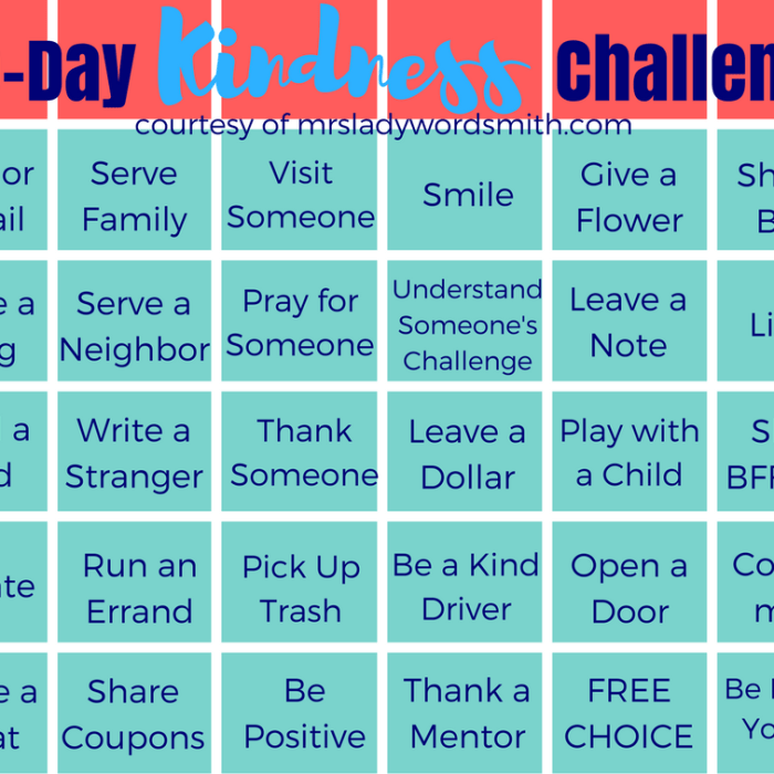 30-Day Kindness Challenge