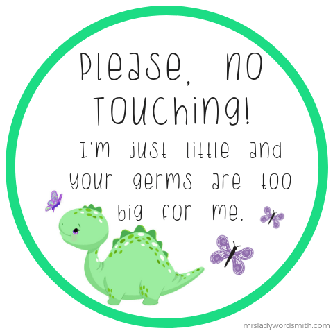 Protect Baby from Germs Free Printable