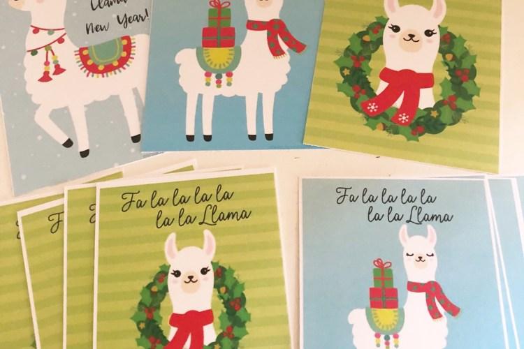 Fa La La La Llama: Christmas Printable Kit