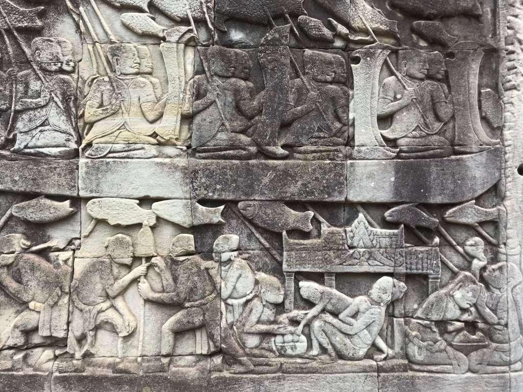 巴揚寺Bayon浮雕