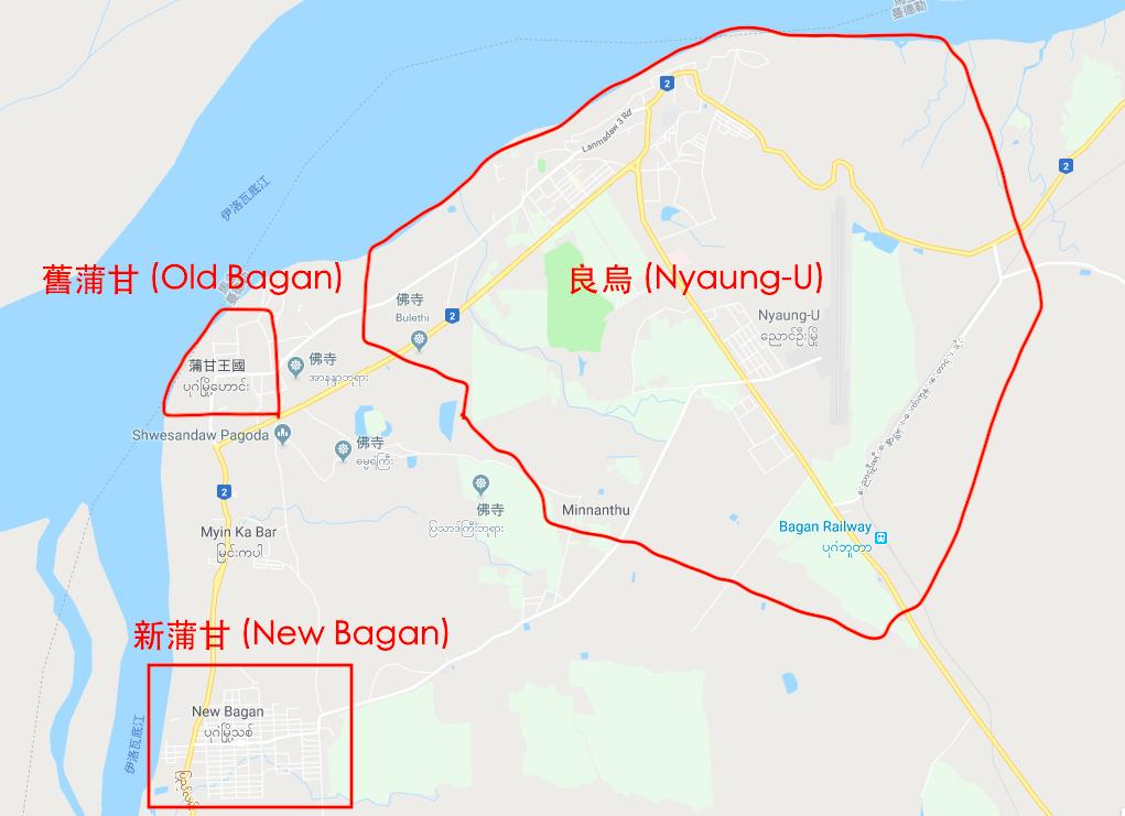 蒲甘地圖1