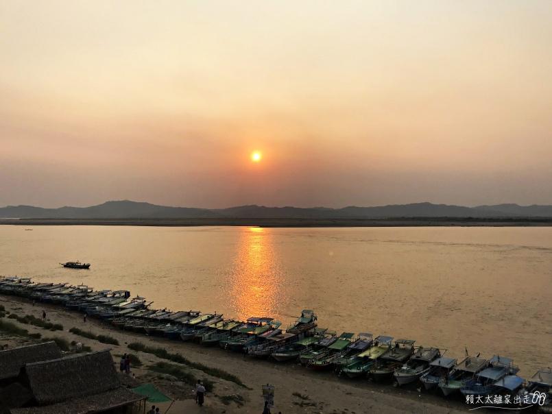 伊洛瓦底江夕陽