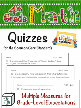 4th GRADE MATH Quizzes