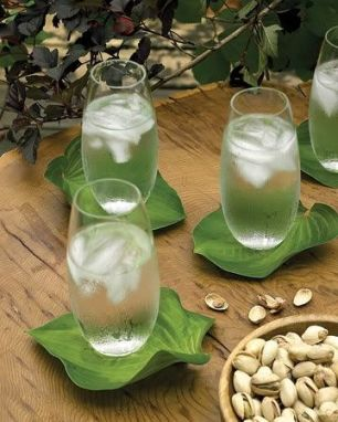 Iced water and pistachios!
