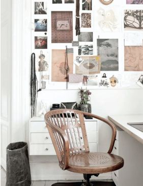 I love the idea of a wooden chair, but since it is what I have for my desk right now, I always feel it wouldn't be a smart change. But this one is super cute!