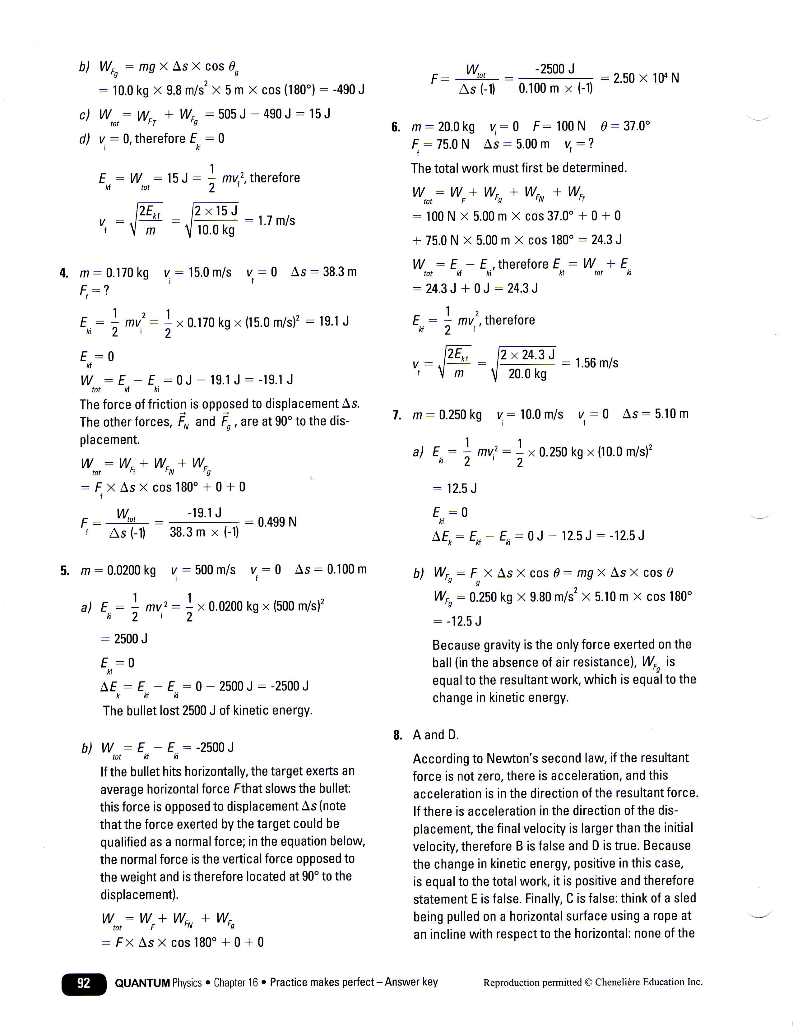 Kinetic And Potential Energy Worksheet Answers Physics