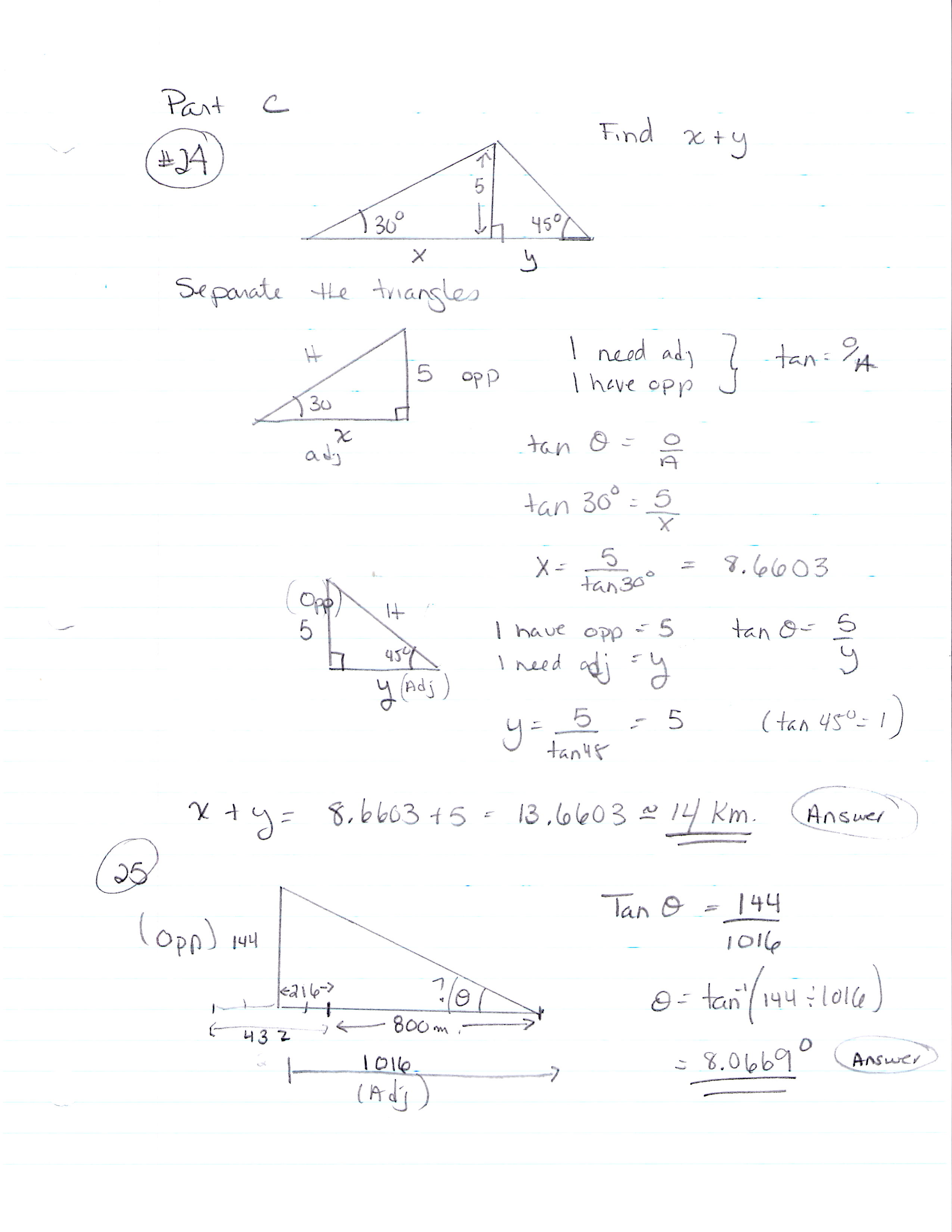 Help Student Homework Trigonometry
