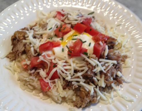 Pork Carnitas over Rice