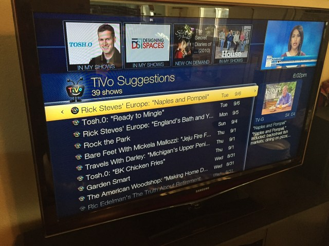 "Or just finally clear out all those Tivo ""Suggestions"" you've been meaning to get to..."