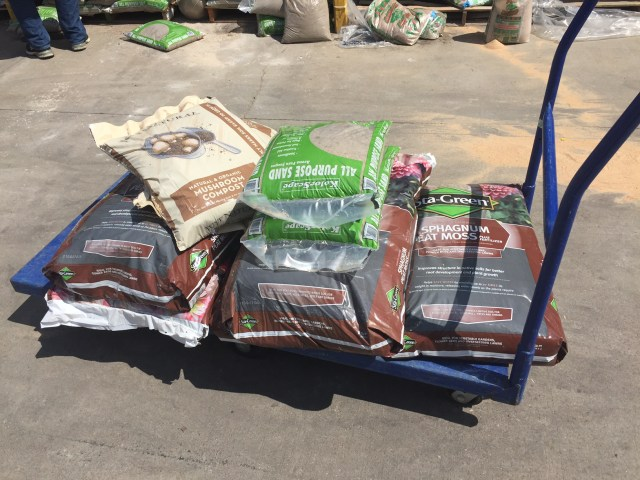 Soil additions for our new raised bed garden