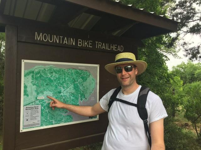 Hiking at Muleshoe Bend Campground