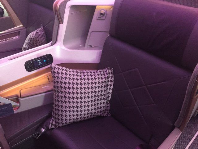 """Singapore Airlines """"New"""" Business Class Seat on their 777s"""