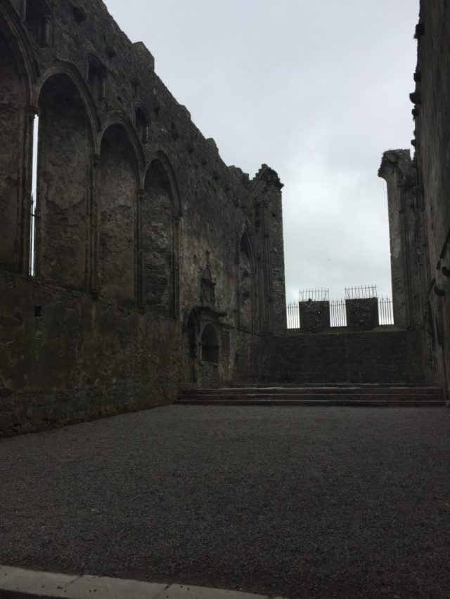 The roof of the Rock of Cashel has long since been lost.