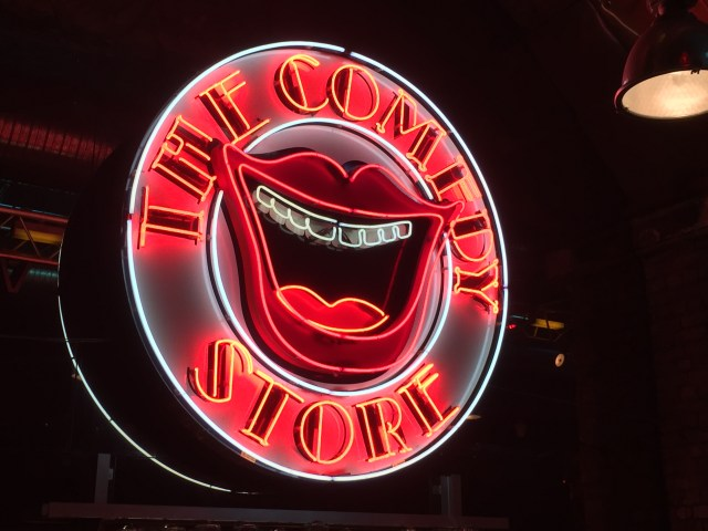 The Comedy Store Manchester neon sign.