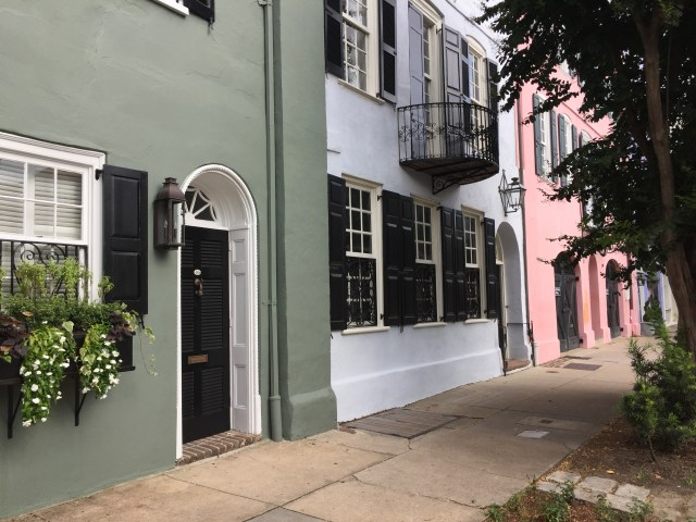 Rainbow Row in Charleston, South Carolina.