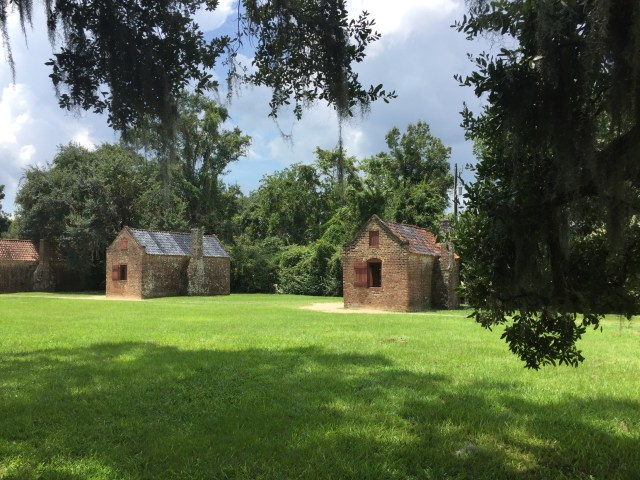 Former slave quarters on the Boone Hall Plantation now house educational displays on the horrors of slavery.