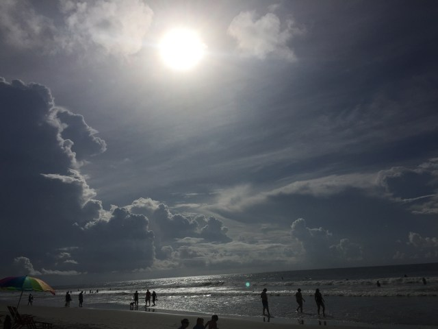 Pre-eclipse at Folly Beach. An absolutely perfect Beach Day!