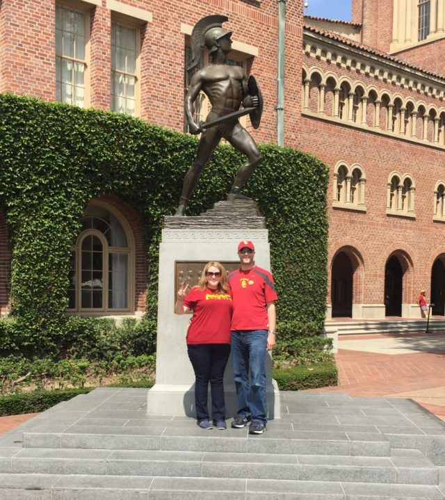 A visit to Tommy Trojan on Gameday.
