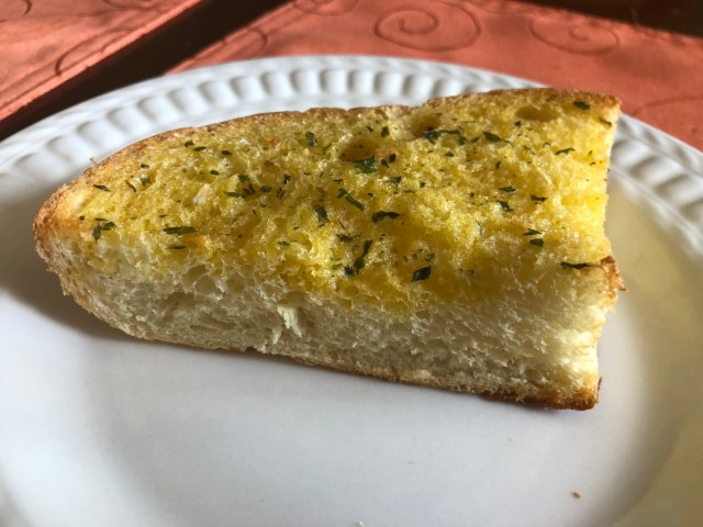 The finished product: individual servings of freezer garlic bread